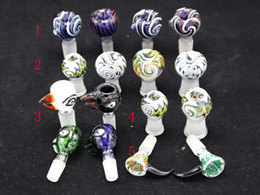 Wholesale Heady glass Bowl Slides Glass Bowl for Bongs With Male female Joint mm mm Eye Ball Bowls for glass water Bongs