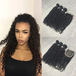 Thick And Full Head 5 Bundles Brazilian Virgin Kinky Curly Hair Weft with 1pc 44 Lace Closure Free Part 8A Grade 100% Unprocessed Human Hair