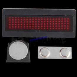 Wholesale Горячая продажа RED LED Сообщение Вход скроллинг Имя реклама визитная карточка шоу Табло панель Знак
