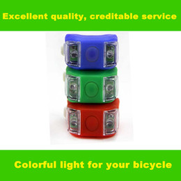 Mini Brillant Waterproof SILICON Bike Bicycle Warning Light Set for Safety Cycling - White LED Front Light + Red Rear Tail Lamp