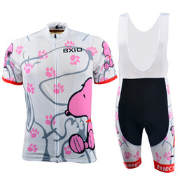 Wholesale BXIO Mountain Road Bikes Clothes Short Sleeve Snoopy Womens Cycling Jerseys Sets Summer Quick Dry Cool Cycling Clothing BX W021