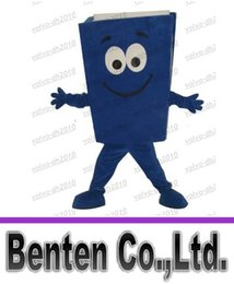 Wholesale Custom Advertising Costumes Yellow Blue Red Recycled Notebook Book Mascot Costume Cartoon Character Theme Mascotte Fancy Kit LLFA4844F