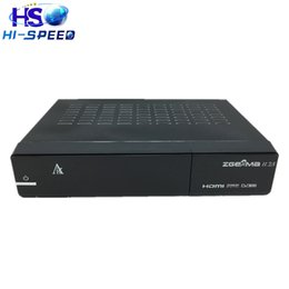 Wholesale 20pcs Genuine Zgemma H S Dual Core Twin Tuner DVB S2 Satellite Receiver support SD TF card PVR record