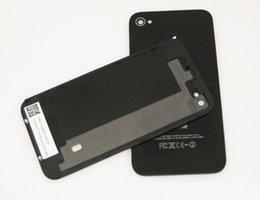 Iphone vidrio de alta calidad en Línea-Reemplazo de alta calidad de la batería de cristal de la puerta de la vivienda Puerta de reemplazo de la cubierta trasera con difusor de Flash para iphone 4 4G 4S al por mayor
