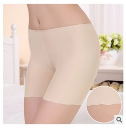 Sexy ice silk flouncing Seamless underwear Leggings ladies Solid short leggings pants anti emptied Security pants summer Leggings women new