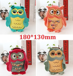 Wholesale 180 mm Super Funny New Creative OWL design Schoolbag Backpack clean up bag sweet Christmasg ift