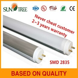 Wholesale High quality isolated driver m led tube t8 SMD led tube ft day light with or years warranty lm led tube with no dark area
