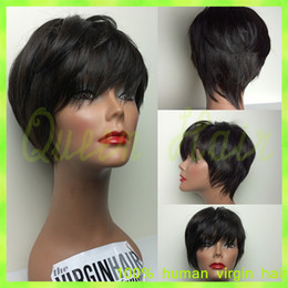 8A Short Bob Human Hair Wig Brazilian Virgin Natural Straight Short Full Lace Front Wigs Fashion For African Americans Lace Wig