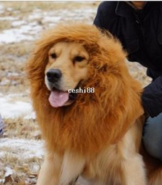 Free shipping Pet Costume Large Pet Dog Lion Wigs Mane Hair Festival Party Fancy Dress Halloween Costume