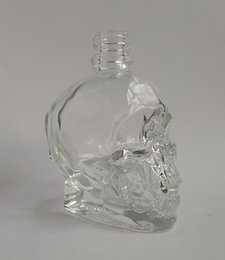 Wholesale skull glass bottles Glass dropper bottle of child safety head cap low price free shipping