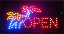 Wholesale 2016 LED Open Sign Animated LED Neon Light Shop Business Open Sign Flower by Flashing Boards