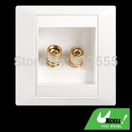 Wholesale White Speaker Binding Post Banana Jack Wall Face Plate Panel Surround Solder Discount