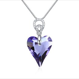 Wholesale CXD adopts advanced luxury crystal heart evil spirit production of sterling silver necklace