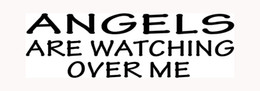 Wholesale Car Gods - ANGELS ARE WATCHING OVER ME Sticker for Car Window Vinyl Decal Laptop God Jesus Pray