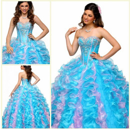 Wholesale New Lovely Sweetheart Tieback Full Length Ball Gowns Quinceanera Dresses Sweet Sixteen Dresses Sweet Dress Years