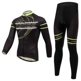 XINTOW Fleece Cycling clothing long sleeve Cycling Jersey+ Pants Bike Cycling Clothing High quality Free Shipping