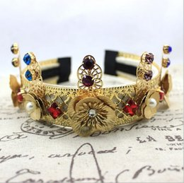 Baroque Crowns Tiara Party Jewelry Sparkle Pearl Pageant Fashion 2018 Rhinestone Wedding Bridal Hair Accessories Fashion Headpieces Headband