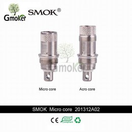 Wholesale 100 Original Smok Micro A core Bottom Coils ohm ohm New Technology World First Fluid Hole For Smok Micro GDC ADC TDC RDC Atomizer