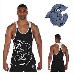 Wholesale Brand gym shark vest clothes fitness mens muscle bodybuilding undershirt tank tops men gymshark sleeveless singlet clothing
