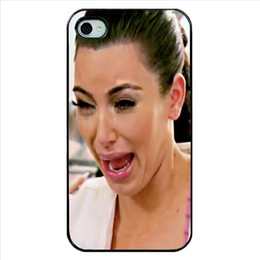 Brand New 2015 Girl Kim Kardashian Crying Hard Plastic Mobile Phone Shell Case Cover For Iphone 4 4S 5 5S 5C 6 6 Plus
