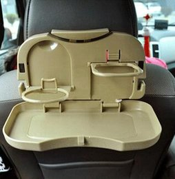 Wholesale HHA85 Nice Folding Car Auto Back Seat Multi Tray mount Food table meal Desk Stand Drink Cup Holder Top