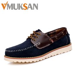 Wholesale Size Men s Boat Shoes Fashion Designer Handmade Mens Loafers Sperry Top Sider Navy Suede Leather Zapatos Sailling Shoes