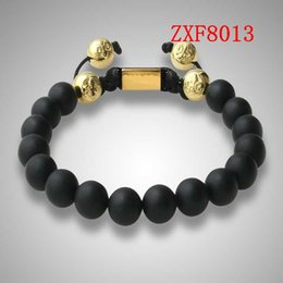Wholesale 2015 new Nialaya Pure natural stone Alloy point drill Bracelets Shamballa Strip alloy Weave Best sell Popular Beaded Bracelet