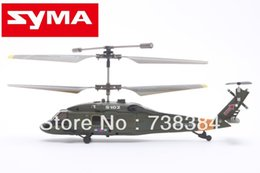 Wholesale Mini Syma S102G RTF CH Infrared Radio Controlled Apache Military RC Electric Helicopters with Gyro For Beginner