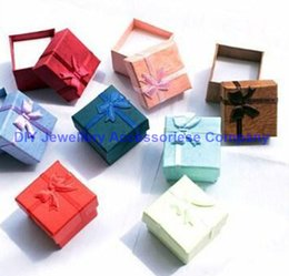 Wholesale 504pcs dozens Display Packaging Gift Box Jewelry Box Multi colors Rings Box Earrings Pendant Box