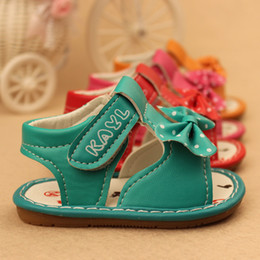 Wholesale years old summer baby girl toddler shoes walk for the first time lovely princess bow sandal birthday gift box packaging