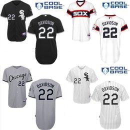 Wholesale Cheap Chicago White Sox Baseball Jerseys Matt Davidson White Black Strip Stitched Baseball Jersey Best Quality Embroidered