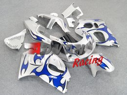 Wholesale Silver Blue Gsxr Fairings - Painted silver and blue with custom Injection molding fairings Suzuki GSXR 600 750 SRAD 1996-1999 1997 1998 7