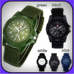 Descuento reloj del ejército suizo deporte militar cuerda analógico Swiss Army Gemius tela del paño de la armadura de lujo de los relojes de moda del estilo del deporte relojes de pulsera de cuarzo de Ginebra militares para relojes de los hombres