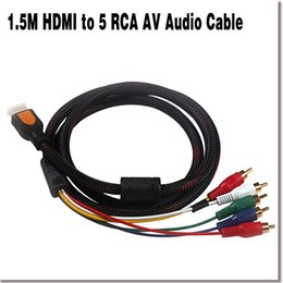 Wholesale NEW M HDMI to RCA AV Audio Video Component Cable Wire HDMI HD Player to HDTV with RCA Input