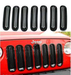 Wholesale For Jeep JK Wrangler Black Trim Front Grille Cover Insert Mesh Grill
