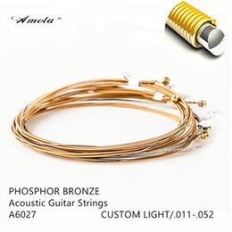 AMOLA Acoustic Guitar Strings Original A6002 A6027 A6052 A6077 A6102 Pure copper Guitar Strings Guitar Accessories