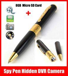 Hot Mini Spy Pen HD Video Hidden DVR Camera Camcorder Recorder 1280x960 Cam + 8GB Micro SD card Free Shipping