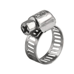 Wholesale price x Stainless Steel Fuel Hose Clamp Line Pipe Clips Zinc Plated Screw mm mm