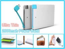2600 mah wallet power bank for mobile phone 2600mah Ultra thin external battery emergency charger promotion powerbank for mobile phone