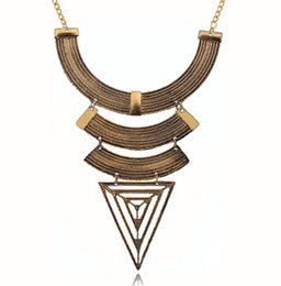 2015 Fashion Boho Bijoux Femme Necklaces Ethnic Colar Vintage Choker Collar Element Spikes Statement Necklaces N342