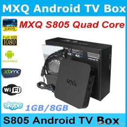 MXQ TV BOX Amlogic S805 Quad Core Android 4.4 4K HDMI 1GB 8GB Fully Loaded WIFI Airplay Miracast 3D