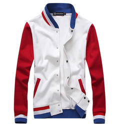Fall-Free shipping new fashion leisure men fleece jacket 4 size baseball uniform men coat