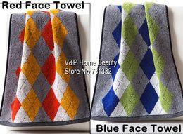 Wholesale Bathroom Cotton Towel set toalha Bath Towel Face Towel Diamond Pattern Plaid xadrez Family Favor Beautician Towels TB8099