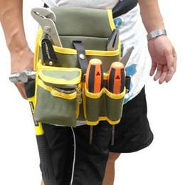 Wholesale Hardware Mechanic s Canvas Tool Bag Belt Utility Kit Pocket Pouch Normal Pack Organizer A3