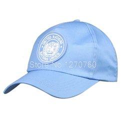 Wholesale UNITED NATIONS PEACEKEEPING FORCE ADJUSTABLE BASEBALL CAP CASUAL HAT