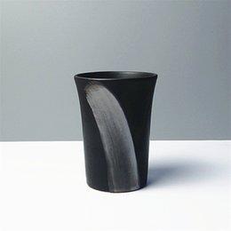 Wholesale Japanese style Brief Coffee Mug ceramic brief cup iopened mug cup tea milk beverage beer cup
