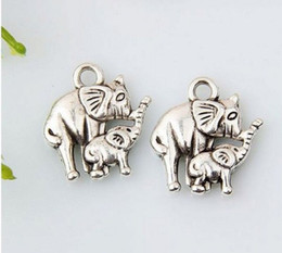 Hot ! 150pcs Antiqued Silver Alloy Elephant Charm DIY Jewelry 12 x 15 mm (374)