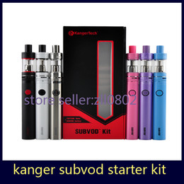 Wholesale Authentic Kangertech SUBVOD Starter Kit with Kanger mAh SUBVOD Battery ml SSOCC Toptank Nano Atomizer Gif Box