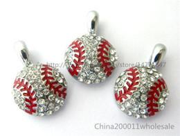 10pcs10pcs Baseball Hang Pendant Charms Fit Pet Collar Phone Strips Rhinestone Hang Pendant Charms Fit Pet Collar Phone Strips