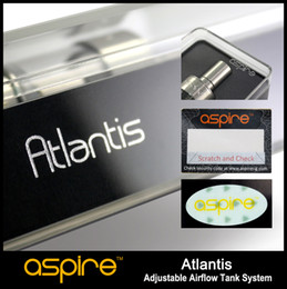 Wholesale - 100% Original Aspire Atlantis tank raised the bar to new heights Sub ohm 0.5ohm coil huge vapor better taste